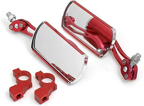 System-S 2 Fahrrad Spiegel Rückspiegel Fahrradspiegel Retro Style in Rot