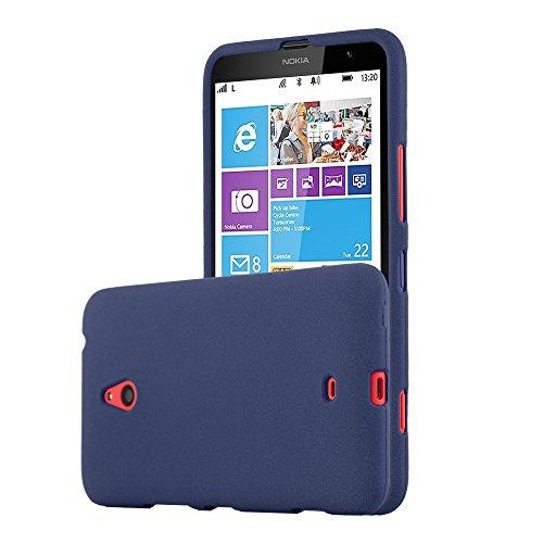 Cadorabo Custodia per Nokia Lumia 1320 in Frost Blu Scuro - Morbida Cover Protettiva Sottile di Silicone TPU con Bordo Protezione - Ultra Slim Case Antiurto Gel Back Bumper Guscio