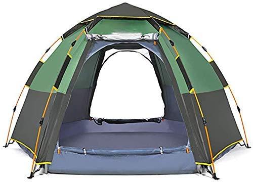 Nuokix Tienda de campaña, 5-8 Personas-portátil instantánea Carpa Plegable Camping Cúpula del pabellón de Viajes Senderismo Beach Alquiler de Deportes al Aire Libre Gear (Color : Green)