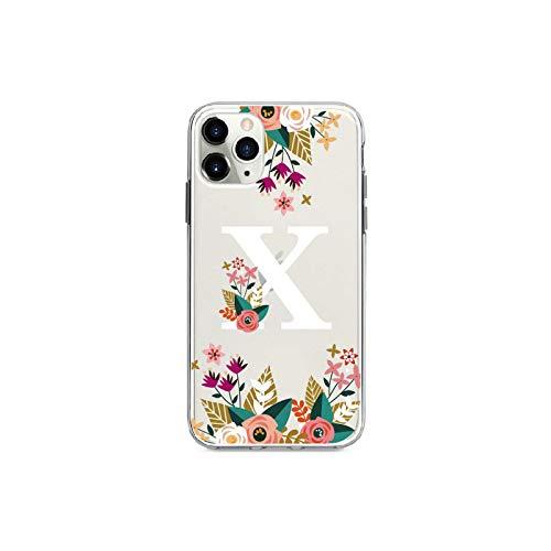 phone cover Marco de corona de flores personalizado con clase chica iniciales alfabeto teléfono caso para iPhone Xs Max X Xr 11 Pro Max 8 8Plus X 7 7Plus suave Tpu-X-para Iphone 11