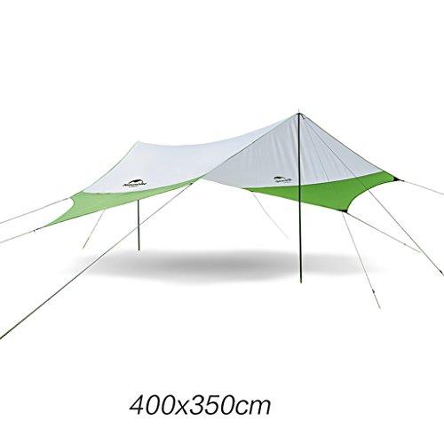 Bâches de protection Auvent Hexagonal extérieur Protection Solaire UPF50 + Anti-UV Tente de Plage abri auvent auvent Camping pergola (Color : Green, Size : 400 * 350cm)