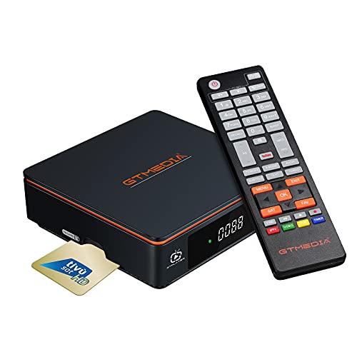 GT MEDIA V9 Prime Decodificador Satelite DVB-S/S2/S2X 2.4G WiFi Incorporado Receptor Satelite Soporta PVR/T2-MI/Biss Auto Roll/AVS+/VCM/ACM Versión Mejorada V9 Super