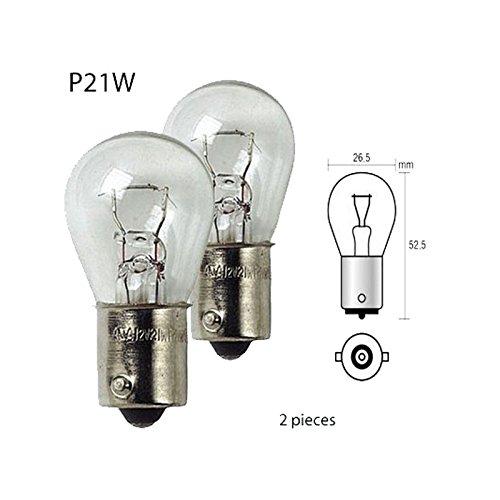 Ampoule Marche Arrière Feu de Stop 12 Volt 21W Culot BA15S P21W - 831