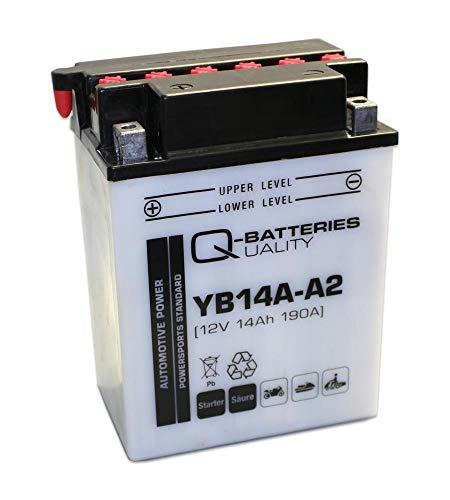 Q-Batteries Motorrad-Batterie YB14L-A2 51411 12V 14Ah 190A