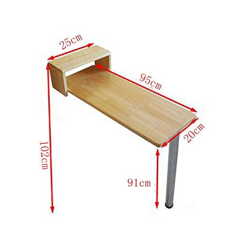 FEI Table de bar pliante Accueil Table haute Table d'appoint Table de repas Café Bar Table de cuisine en 9 tailles (taille : 95 * 20 * 91cm)