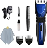 Podadoras Eléctricas Clippers Hair Clipper Electric Hair Clippers Para Hombres Child Quiet Usb Recargable Hair Trimmer Set A Prueba De Agua Con Peluquería Cape Hair Clipper Accessories Blue