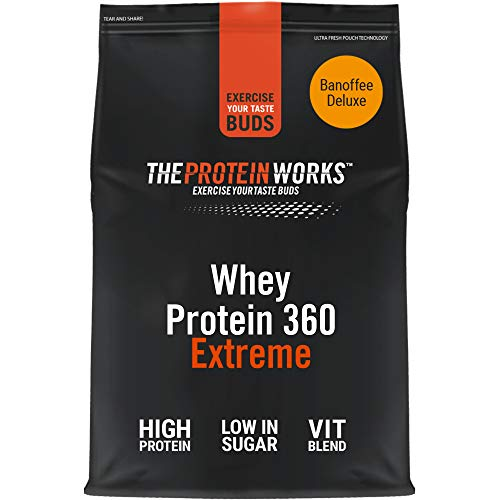 THE PROTEIN WORKS Whey Protein 360 Extreme Protein Powder | High Protein Shake | With Glutamine, Vitamins & Minerals | Protein Blend | Banoffee Deluxe | 600 g
