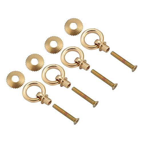 Wifehelper 4-delig/pakket ring pull mini eenvoudige vintage elegante anti-roest pull ringen cosmeticatas juwelendoos opzet greep