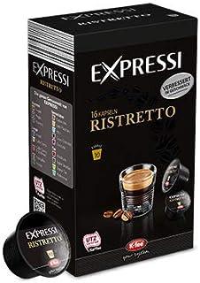 K-Fee Lounge Expressi Espresso Ristretto Kapseln, 96 Kapseln, kompatibel mit Teekanne Lounge Kaffee- und Teemaschine