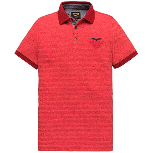 PME Legend Polohemd mit Strukturmuster rot (3097 Racing Red) XL