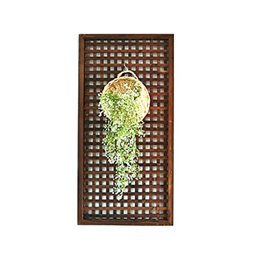 QBZS-YJ Wooden Fence Trellis Framed Panels Climbing Plant Garden Wall Diamond Plant Patio Fence