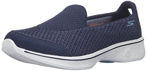 Skechers Go Walk 4 - Kindle, Women Low-Top Sneakers, Multicolored (Blue/White Nvw), 8 (41 EU)