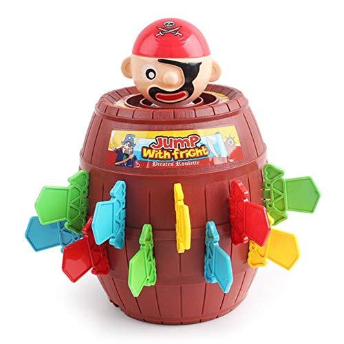 SSN Kinderlustige Gadget Pirate Barrel-Spiel spielt for Kinder Glücklich Stab Pop Up Toy Tricky Pirate Eimer Educational Interactive Toy