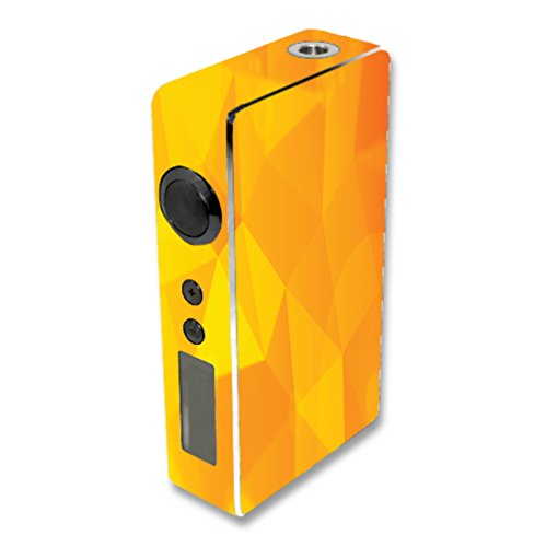 Decal Sticker Skin WRAP Orange Polygon Design for Sigelei 150W