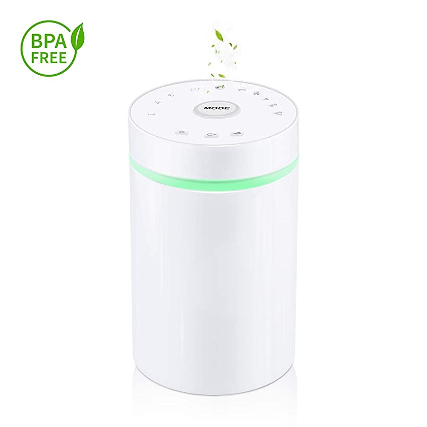 Waterless Essential Oil Diffuser, Wireless Aroma Nebulizer with Rechargable Battery, for Aromatherapy Spa Car Home Travel
