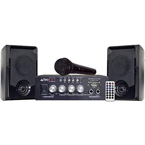 Party 10-9020PLS Amplificatore per Karaoke, 2 x 25 W