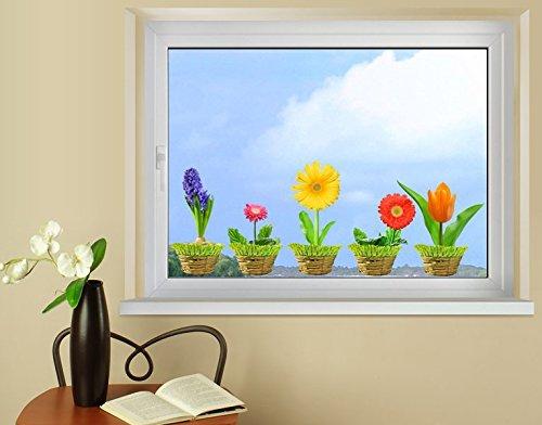Klebefieber Fenstersticker Frühlingsblumen B x H: 40cm x 15cm