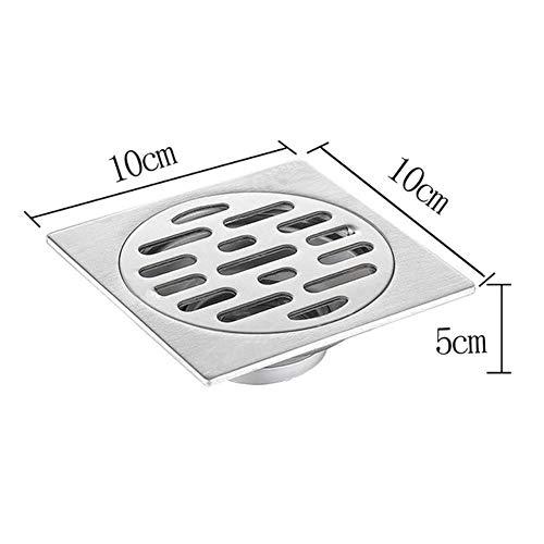 DYTJ-TOOLS Badgeruchsbodenablauf Aus Edelstahl 304 Badwaschmaschine Mit Großem Durchfluss Verdickung Bodenablauf, Silber