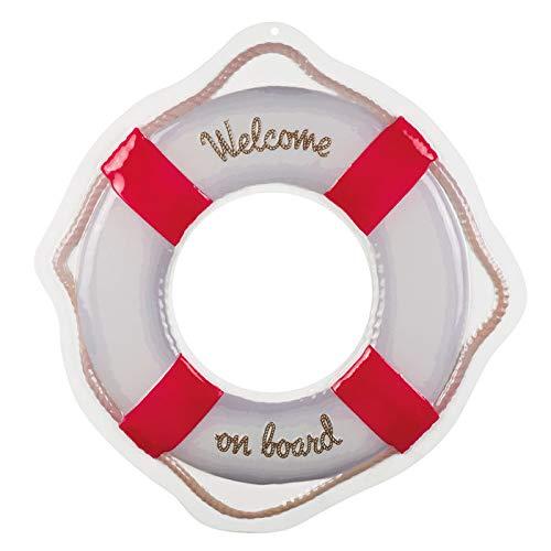 PARTY DISCOUNT Wand-Deko Rettungsring Welcome on Board, 55 cm