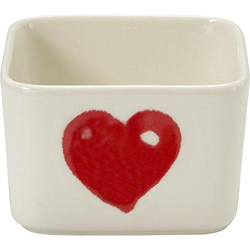 Precious Moments Celebrations Square Valentine's Day Appetizer Bowl, Red, White