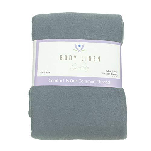 Body Linen's Gentility - Manta de masaje polar (54 x 80 cm, 100% poliéster), color gris azulado