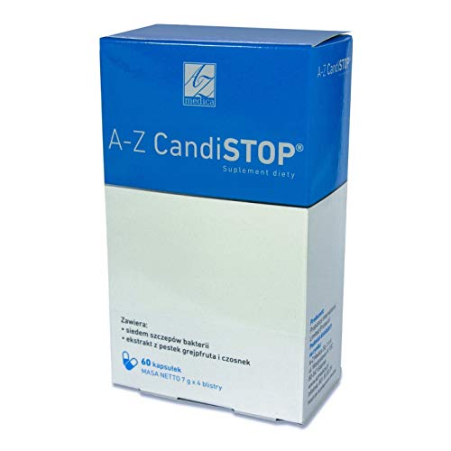 A-Z Medica A-Z CandiSTOP Pakket van 1 x 60 Capsules - Probiotisch 7 Stammen van Probiotische Bacteriën - Grapefruitzaadextract - Knoflook - Antioxidant