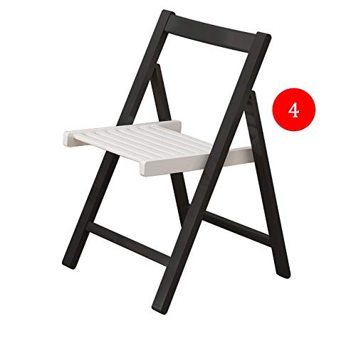 YZZSJC Side Table in C Shape Butterfly Dining Set, Mobile Drop Leaf Dining Kitchen Table,Dining Chairs, Space Saving, Folding Expandable Over bed table (Color : Black white, Size : 4 chairs)
