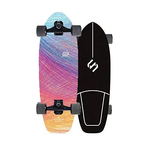 VOMI Land Surfskate Skateboard Kinder Mini Cruiser Longboard Jungen 29'' CX4 LKW Surfbrett Das Board Carving Turns Fahren, Die Straße Entlang Pumpen Und Auf Dem Asphalt Surfen 7-Lagigem Ahornholz