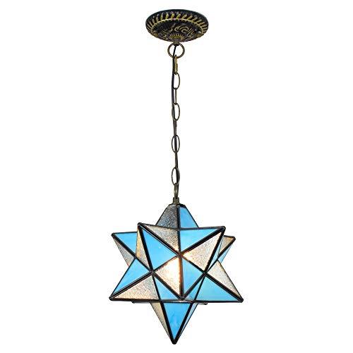 Candelabros de color - Pentagrama colgante lámpara entrada pasillo de pasillo ventanas y balcones hogares mediterránea creativa personalidad estrella luces de estrella Luces creativas de decoración de