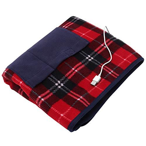 SYXZ Elektrische Heizdecke USB 5 V Sicherheit Tragbare Winter Erwärmung Beheizte Teppich für Auto Home Office Abnehmbare Waschen 88x65 cm,880 * 650mm