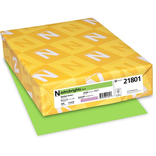 Neenah Astrobrights Premium Color Paper, 24 lb, 8.5 x 11 Inches, 500 Sheets, Martian Green (WAU21801)