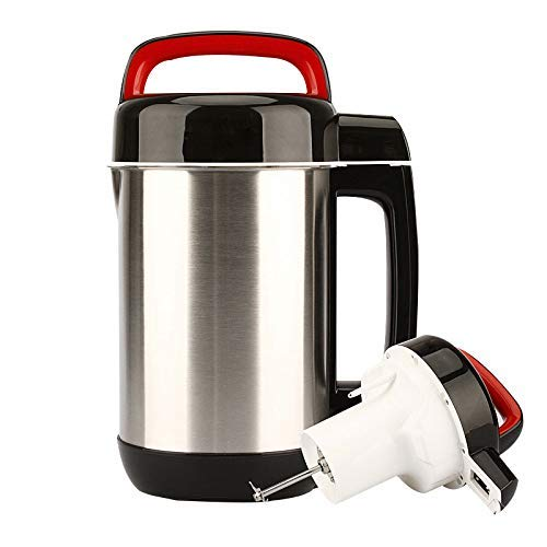 BGSFF Entsafter 1.2L Frühstück Sojabohnenmilchhersteller Automatisierung Sojamilchmaschine Marmeladenhersteller Milchshake-Maschine Getreidemahlsaftpresse, schwarz, US 220V
