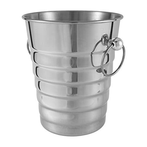 MissLi Cubo de Hielo con Rosca Gruesa de Acero Inoxidable de 5 litros, Enfriador de champán, Cubo de Hielo