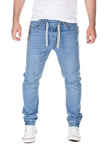 Yazubi Herren Jeans Ash - Bund und Saum mit Gummizug, Light Blue (30032), W28/L32