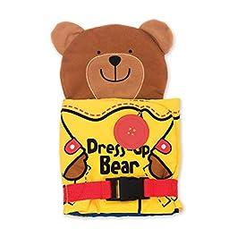 Melissa & Doug Soft Activity Baby Book – Dress Up Bear