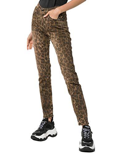 R13 R13W0023 Jeans dünn Damen gesprenkelt 29