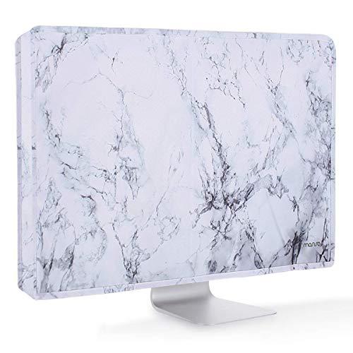MOSISO Monitor Hülle Bildschirm Hülle 22, 23, 24, 25 Zoll Polyester Anti-Statik LCD/LED/HD Display Staubschutz Hülle Kompatibel mit 22-25 Zoll iMac, PC, Desktop Computer und TV, Weiß Marmor