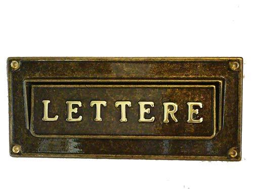 Arterameferro Buca brievenbus brievenbus van messing Brunito buiten
