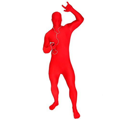 Morphsuits MSREX - Costume per Travestimento, Taglia: XL, Colore: Rosso
