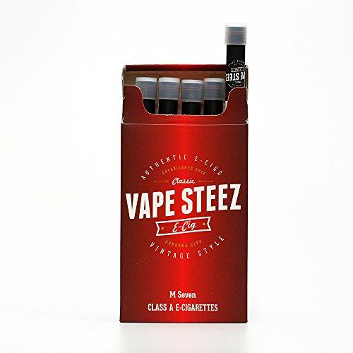 電子タバコ 使い捨て ロングタイプ VAPE STEEZ オリジナル 吸引回数約500回 たばこ型 5本セット (M-SEVEN)