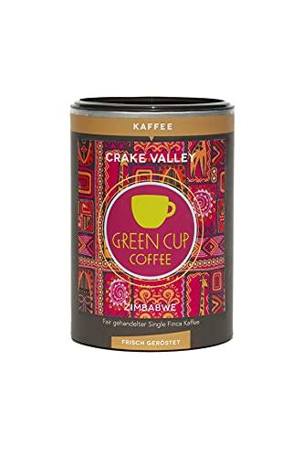 Green Cup Coffee Crake Valley - Arabica Kaffeebohnen aus Zimbabwe - fair gehandelte Kaffeebohnen in Premium Qualität für Genießer in der praktischen Dose - 227g ganze Bohne