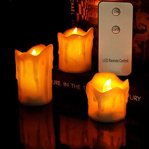 HOBBMS Halloween Weihnachten führt elektronische Kerze Weihnachtsdekoration Träne Kunststoff Shell-Fernbedienung Led Elektronische Candle Light Kürbis-Licht-Nacht-Szene Requisiten, Bar Home Decoration