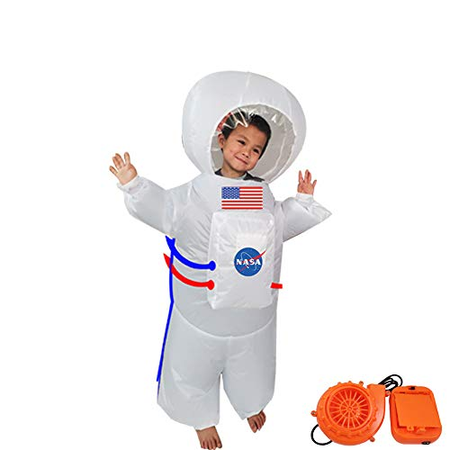ODIMAI Traje Espacial Inflable,Disfraz Traje Espacial Inflable Adulto,Divertido Disfraz De Aire para Adultos (Puerto USB),Child