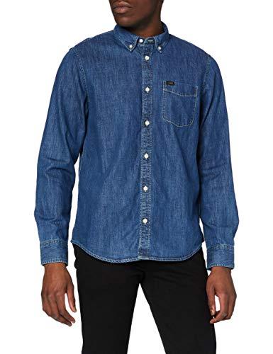 Lee Herren Button DOWN' Businesshemd, Bleu (Dipped Blue La), Medium