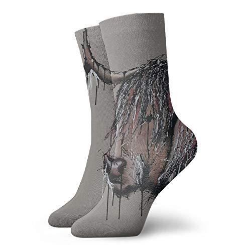 TopBABYYING Classics Compression Socks McDonald Moo Sport Athletic 11.8inch(30cm) Long Crew Socks for Men Women