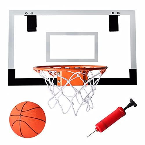 TTHH Canasta Aro de Baloncesto con 1 Inflador y 1 Pelotas, Canasta Baloncesto Infantil portátil para Oficina y casa, Canasta Baloncesto para Niños