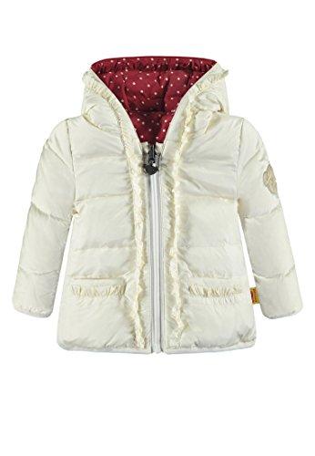Steiff Baby-Mädchen Anorak zum Wenden Jacke, Weiß (Whisper White White 1100), 86