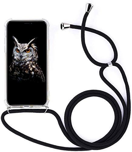 Mediatech Handykette kompatibel mit Samsung Galaxy S7 Edge - Handy-Kette Handyhülle mit Band Handy Hülle mit Kordel zum Umhängen Halsband Necklace Handyanhänger Band Case Cover (Transparent 5.5