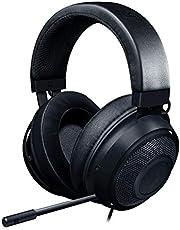 Razer Kraken - Auriculares Gaming con cable para juegos multiplataforma para PC, PS4, Xbox One & Switch, Diafragma 50 mm, Cable de 3.5mm con controles de línea, Negro