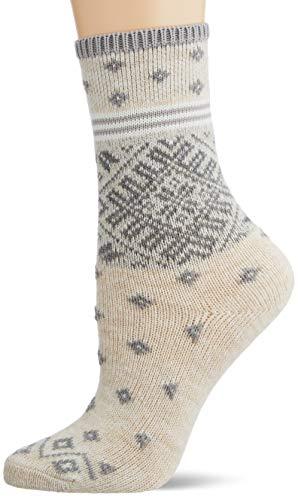 ESPRIT Damen Norwegian Strip W SO Socken, beige (Cream 4011), 35-38 (UK 2.5-5 Ι US 5-7.5)